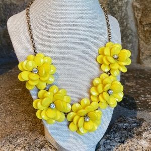 J. Crew Yellow Acrylic Resin Fashion Necklace